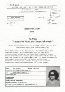 Einblicke in die Arbeitsweise der Staatsicherheit der DDR