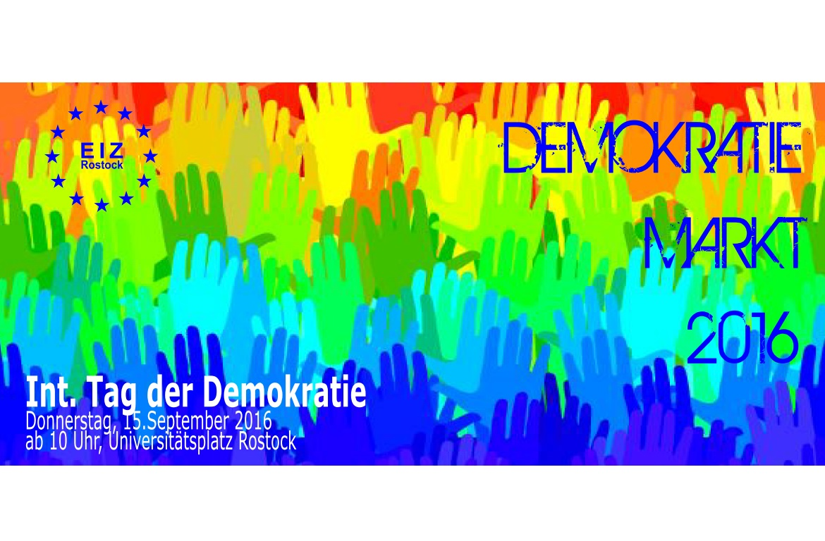 Demokratiemarkt in Rostock