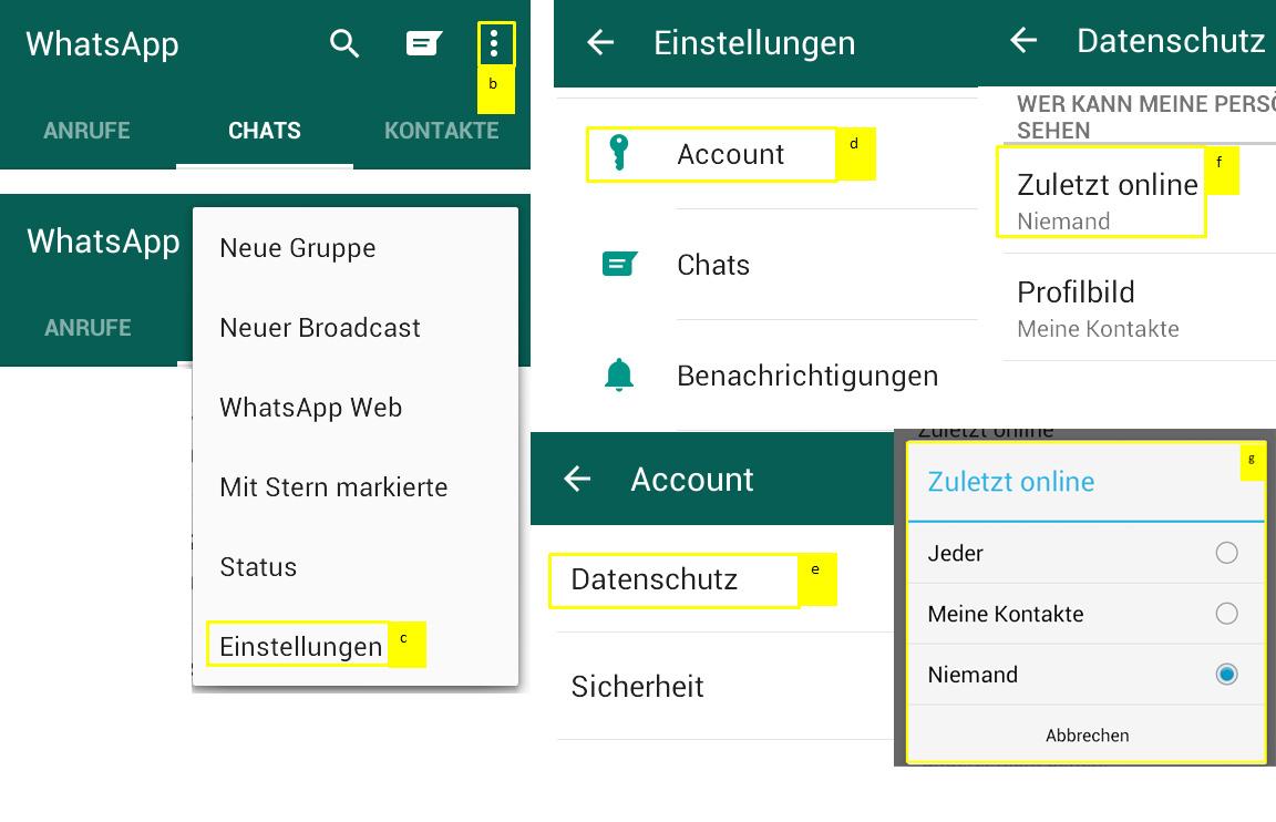 Zeitstempel auf WhatsApp verbergen