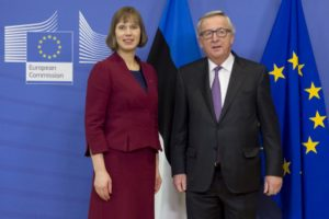 Kersti Kaljulaid und Jean-Claude Juncker