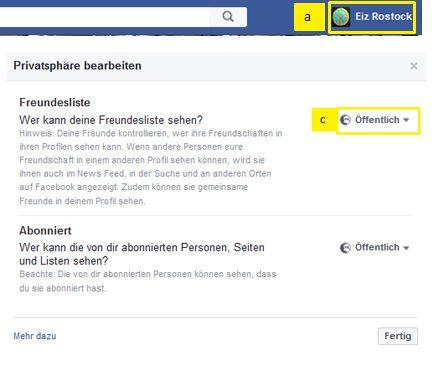 Wer darf auf Facebook meine Freunde sehen?