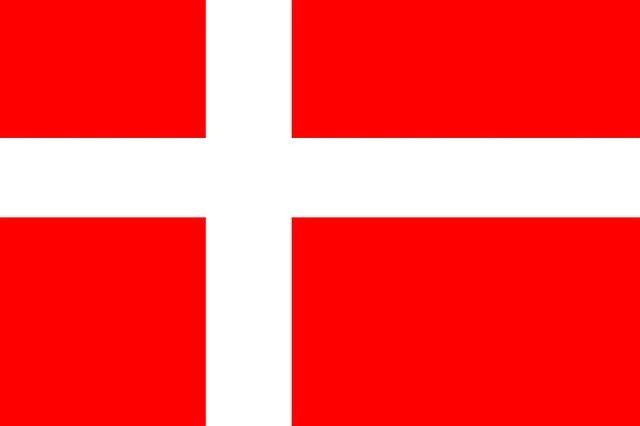 Mitgliedstaaten der EU - Flagge Dänemark