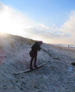 Nele am Strand von Warnemünde