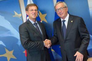Cerar und Juncker traffen sich 2017.