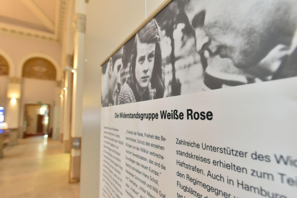 Ausstellung zur Weißen Rose in Rostock