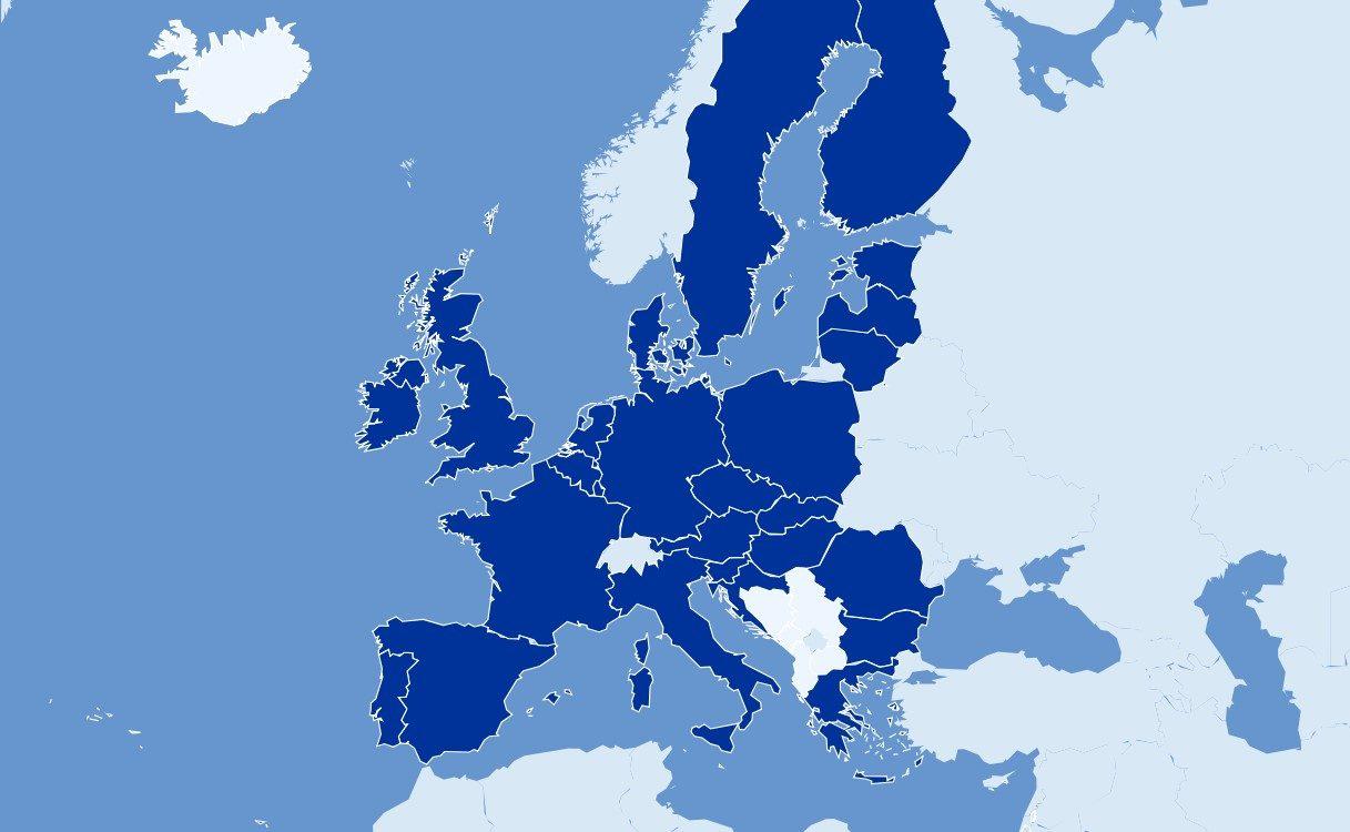 Karte de Mitgliedstaaten