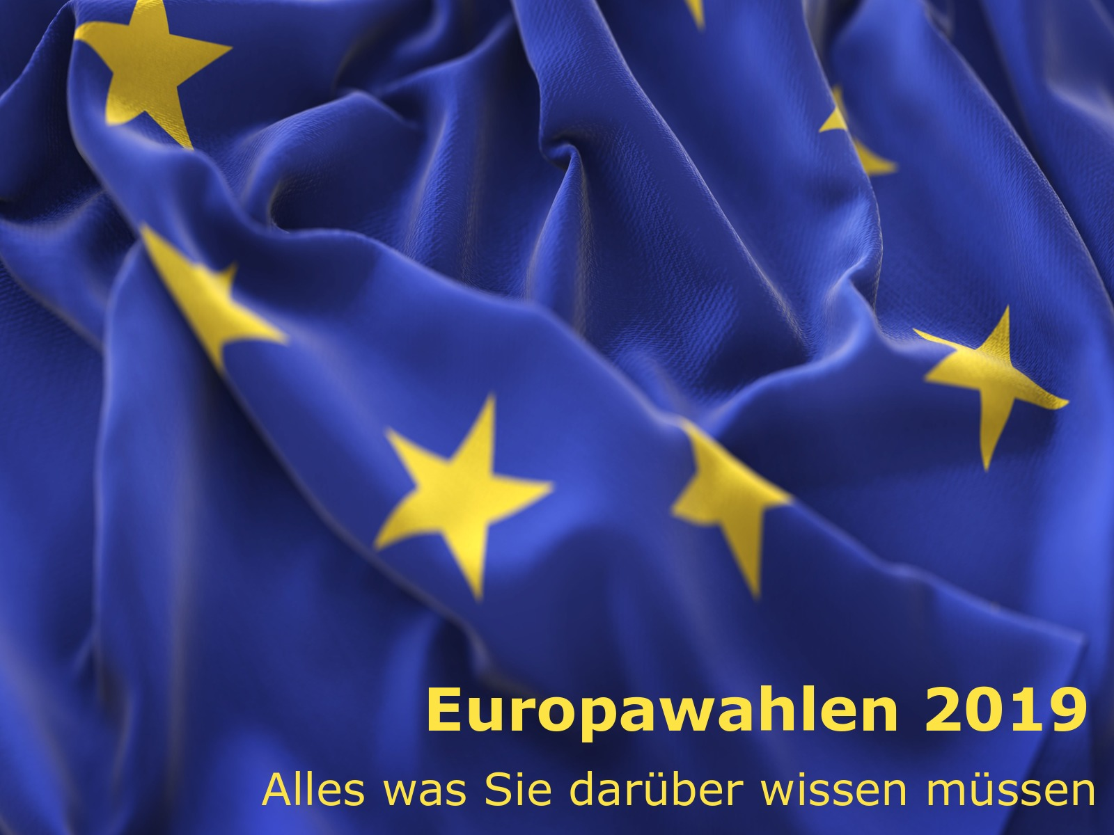 Europawahlen 2019 - Alles was Sie darüber wissen müssen