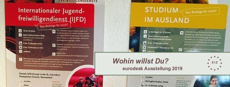eurodesk Ausstellung zur Mobilität junger Leute. Wohin willst Du?