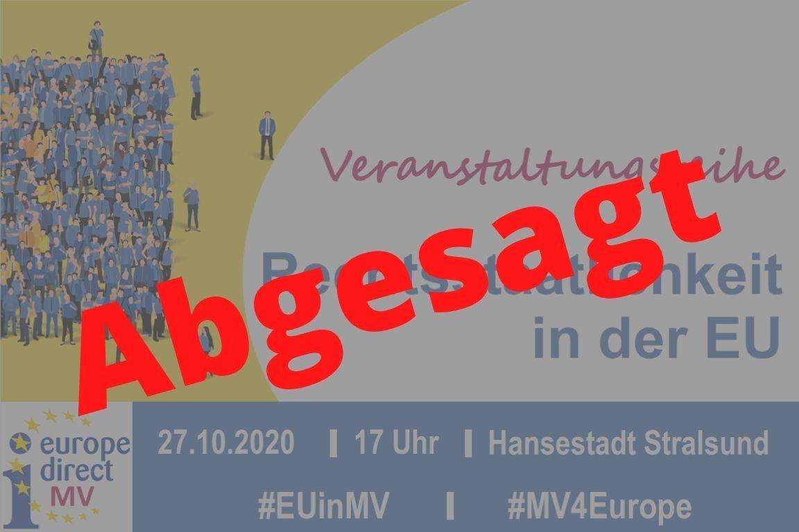 Rechtsstaatlichkeit in der EU - Diskussionsrunde in Stralsund