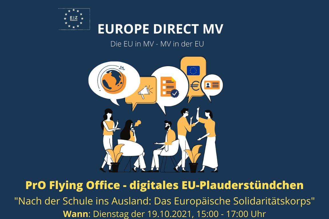 Flying Office: Das digitale EU-Plauderstündchen – Nach der Schule ins Ausland: Das Europäische Solidaritätskorps